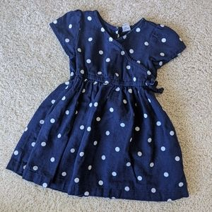 Old Navy Toddler Polka dot wrap dress